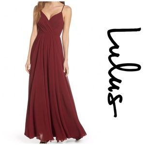 NEW Lulu's Women's Burgundy Maxi Dress ADK